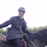 Policial na troca da Guarda