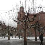 Centro Frankfurt com neve